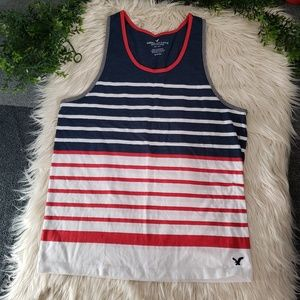 🍋AMERICAN EAGLE OUTFITTERS striped mens tank S